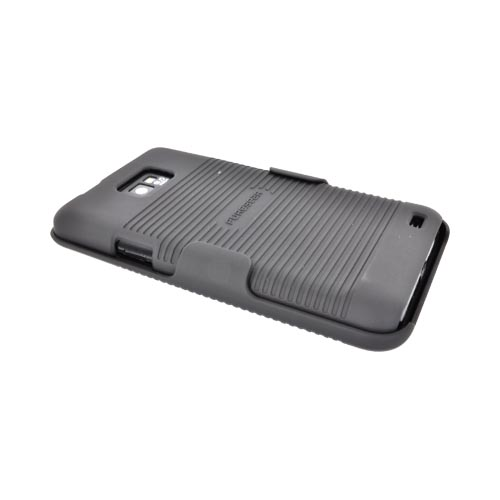 Original PureGear AT&T Samsung Galaxy S2 Rubberized Hard Shell Case w/ Holster Combo, 02-001-00905 - Black