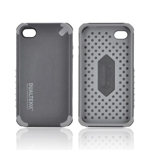 Original PureGear AT&T/ Verizon Apple iPhone 4, iPhone 4S DualTek Extreme Shock Hybrid Hard Case w/ Screen Protector, 02-001-01151 - Black/ Gray