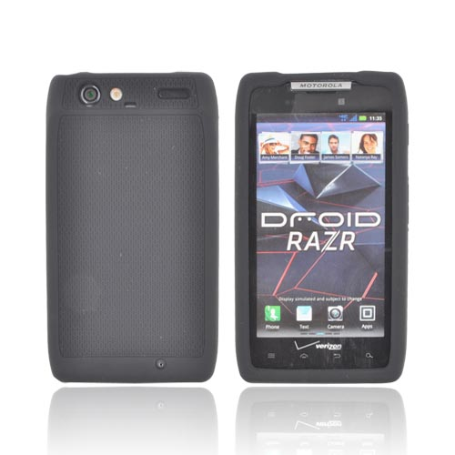 Original PurGear Motorola Droid RAZR Soft Shell Flexible Rubberized Silicone Case, 02-001-01159 - Black