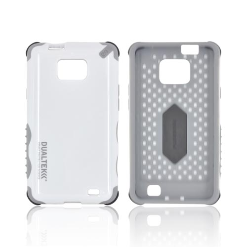 Original PureGear AT&T Samsung Galaxy S2 DualTek Extreme Shock Hybrid Hard Case w/ Screen Protector, 02-001-01180 - White/ Gray
