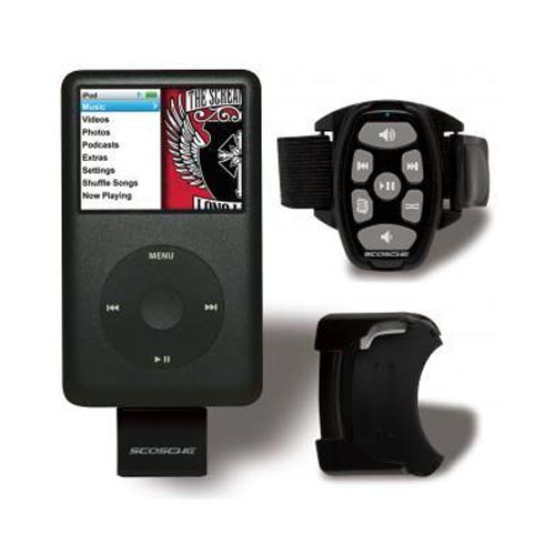 Original Scosche ControlFREQ iPod Wireless RF Remote w/ Sport Mount & Car Mount, 026IPNRFCS - Black