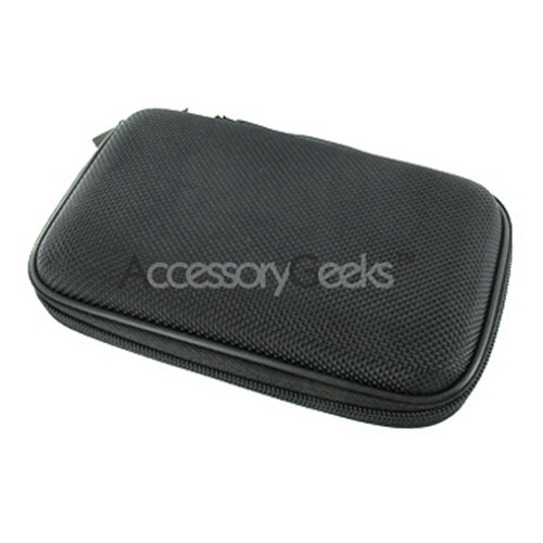 Premium GPS 4.3 EVA Nylon Case w/ Metal Belt Clip - Black