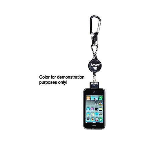 Original iCat Reel It Apple iPhone/ iPod Retractable Detachable Reel Leash Holder, 11018C-74 - Black/ Gray