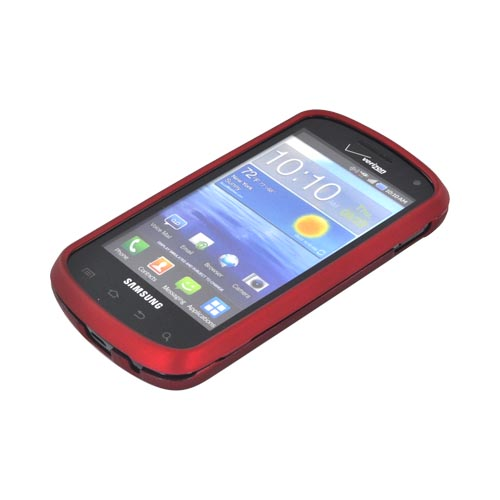 Premium Samsung Stratosphere i405 Rubberized Hard Case - Red