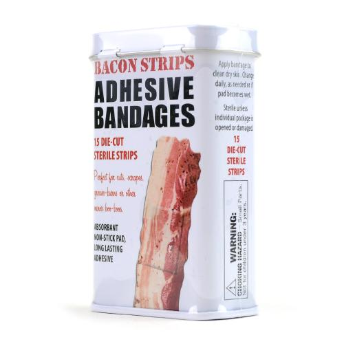 Bacon Strips Band-Aids - Comes w/ Free Prize!