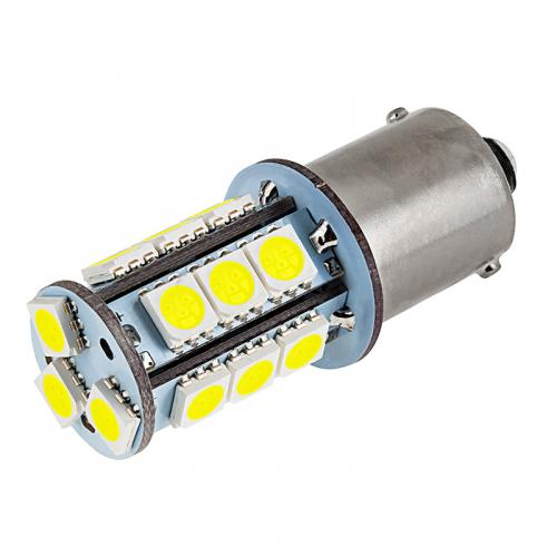 1156 LED Bulb - 18 SMD LED Tower - BA15S Retrofit [White Light] - Perfect for Vehicle Tail Lights, Brake Lights, Reverse Lights, Turn Signals, ETC!
