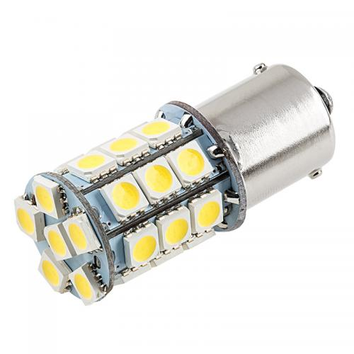 1156 LED Bulb - 27 SMD LED Tower - BA15S Retrofit [White Light] - Perfect for Vehicle Tail Lights, Brake Lights, Reverse Lights, Turn Signals, ETC!
