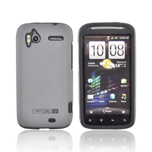 Original Naztech Vertex HTC Sensation 4G Hard Cover Over Silicone w/ Screen Protector - Gray/ Black