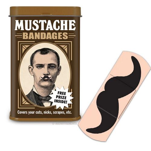 Manufacturers Mustache Band-Aids in Collectible Tin - Comes w/ Free prize! Silicone Cases / Skins