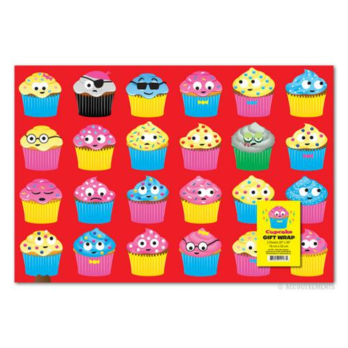 "Kooky Cupcakes Gift Wrap 2 Pack - (20"" x 30"")"
