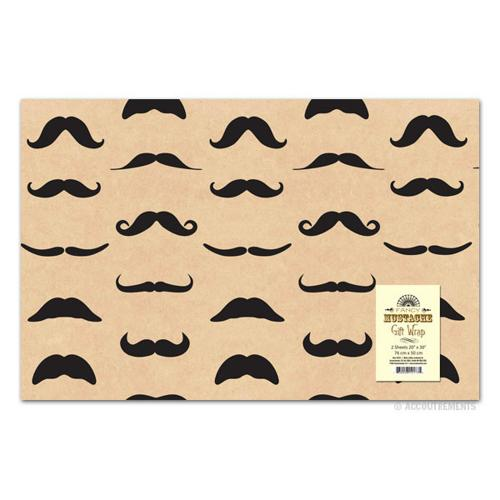 "Mustache Gift Wrap 2 Pack - (20"" x 30"")"