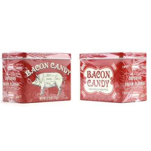 Bacon Flavored Candy in Collectible Tin