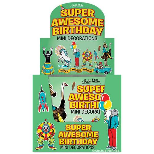 Super Awesome Birthday Mini Decorations - Perfect for Any Office Cubicle!