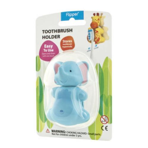 Blue Elephant Flipper Toothbrush Holder