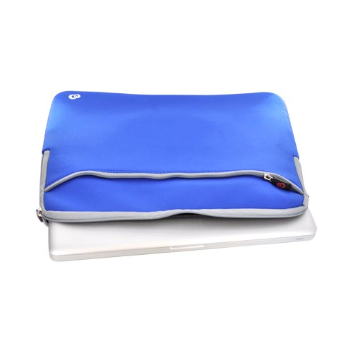"Original Kroo 15.4"" Notebook Neoprene Glove Sleeve Case, 15-GLOVE - Blue/ gray"