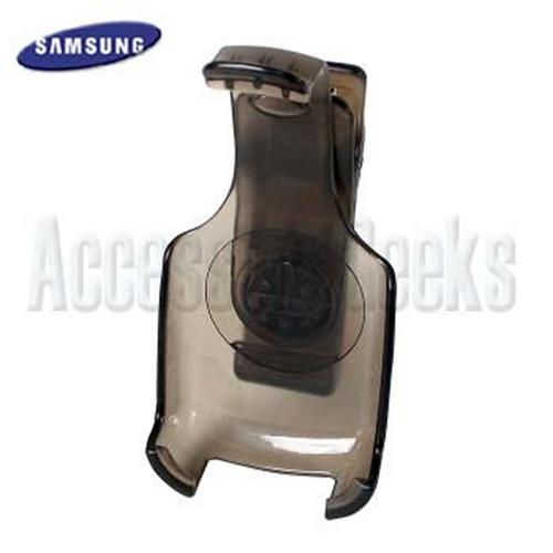 Original Samsung A850 Transparent Black holster w/ belt clip - 17221075042