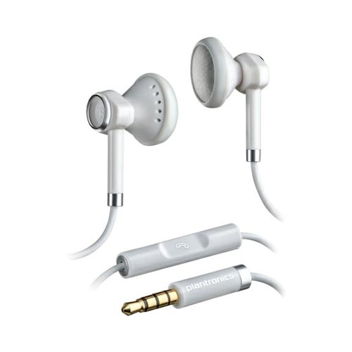 Plantronics BackBeat 116 Universal Earbud Stereo Headset w/ Remote (3.5mm) - White