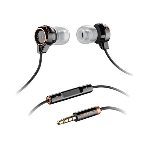 Plantronics BackBeat 216 Universal Earbud Stereo Headset w/ Remote (3.5mm) - Black
