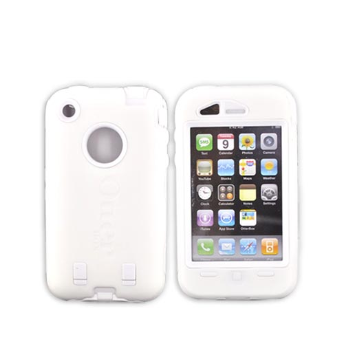 Original Otterbox iPhone 3G Defender Series - White / White