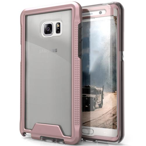 Samsung Galaxy Note 7 Case, ION Single Layered Shockproof Protection TPU & PC Hybrid Cover w/ Tempered Glass [Rose Gold/ Clear]