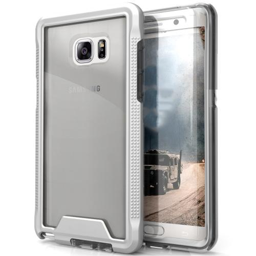 Samsung Galaxy Note 7 Case, ION Single Layered Shockproof Protection TPU & PC Hybrid Cover w/ Tempered Glass [Silver/ Clear]