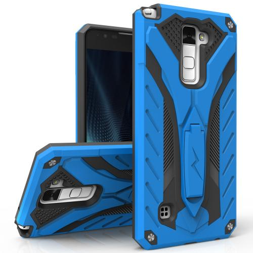 [LG Stylo 2 Plus] Case, STATIC Dual Layer Hard Case TPU Hybrid [Military Grade] w/ Kickstand & Shock Absorption [Blue/ Black]