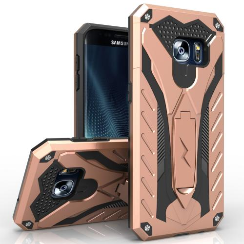 Samsung Galaxy Note 7 Case, STATIC Dual Layer Hard Case TPU Hybrid [Military Grade] w/ Kickstand & Shock Absorption [Rose Gold/ Black]