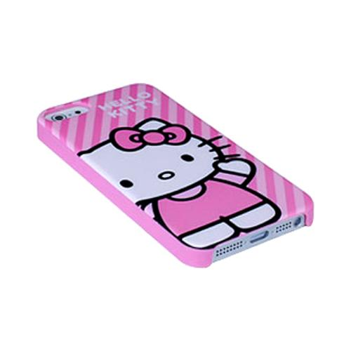 Apple iPhone SE / 5 / 5S  Case, Hello Kitty [Diagonal Stripes]  Hard Case