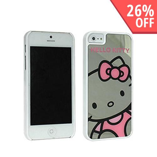 Hello Kitty Close-Up White Hard Case w/ Mirror Effect for Apple iPhone 5/5S