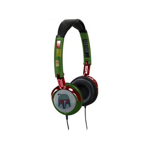 Original FunkoTronics Star Wars Boba Fett Foldable Headphones, 2169F (3.5mm) - Green/Red