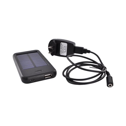 Universal Mobile Phone Solar Charger - Black