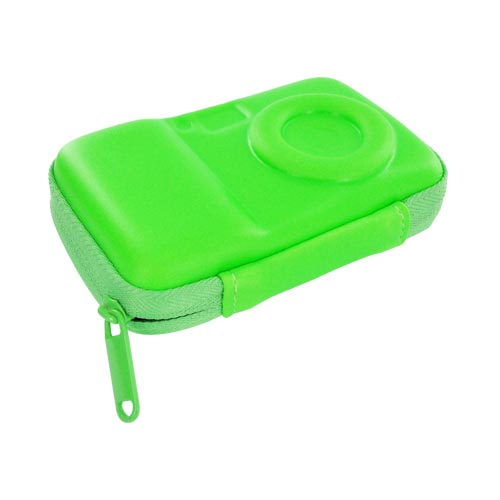 Original DCI Universal Flash Digital Camera Hard Case w/ Zip Closure, 23576-NGR - Neon Green