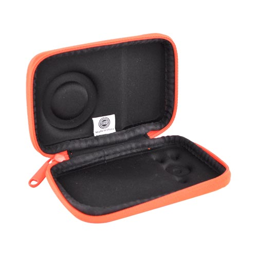Original DCI Universal Flash Digital Camera Hard Case w/ Zip Closure, 23576-NOR - Neon Orange