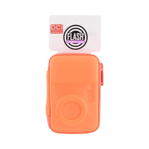 Original DCI Flash Digital Camera Hard Case w/ Zip Closure, 23576-NOR - Neon Orange