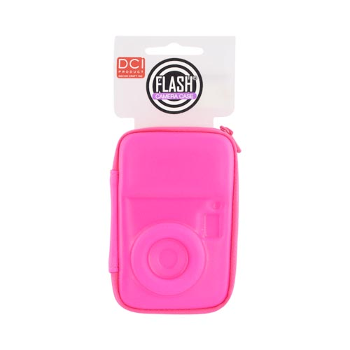 Original DCI Universal Flash Digital Camera Hard Case w/ Zip Closure, 23576-NPI - Neon Hot Pink