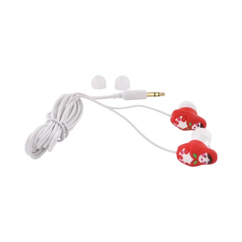 Original DCI Universal Ear Bud Headset (3.5mm), 23866 - Red Babushkas