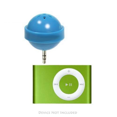 Original DCI Apple iPod Nano/MP3 Lollipop Speaker w/ Cover, 26522-BU - Blue (3.5mm)