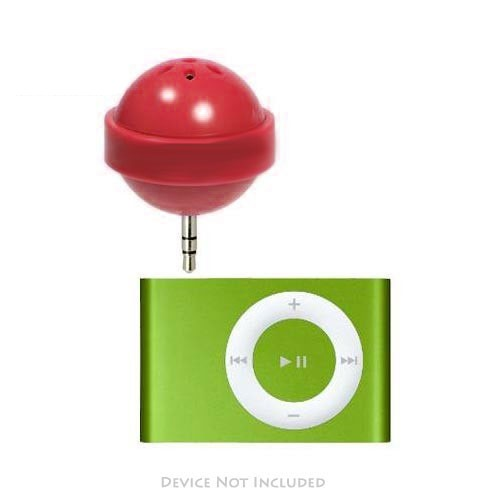 Original DCI iPod Nano/MP3 Lollipop Speaker w/ Cover, 26522-RD - Red (3.5mm)