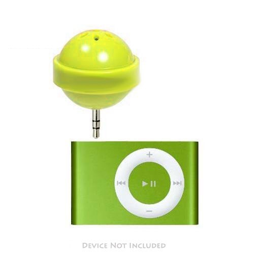 Original DCI Apple iPod Nano/ MP3 Player Lollipop Speaker w/ Cover, 26522-YL - Yellow (3.5mm)