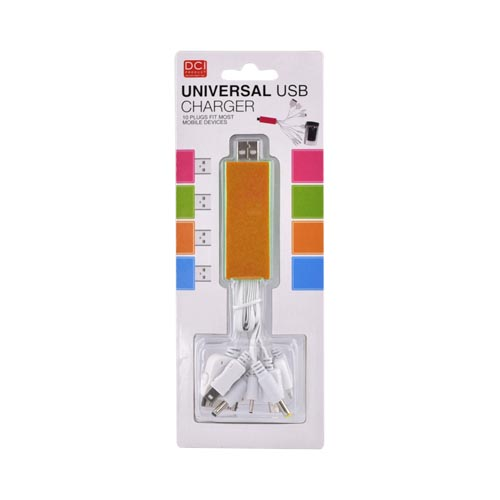 Original DCI Universal 10-in-1 USB Charging Data Cable, 26539-OR - Orange