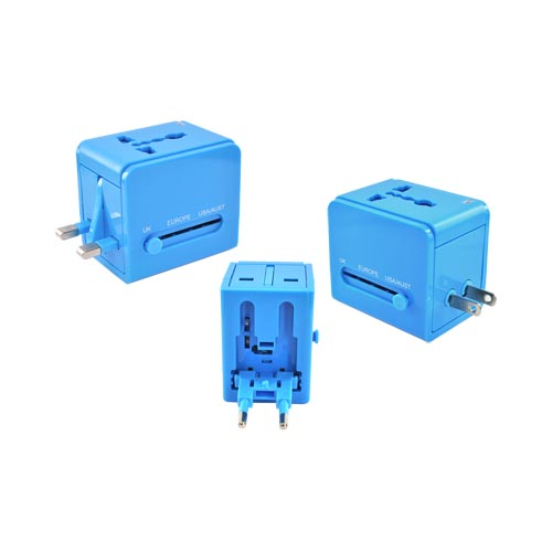 Original DCI Universal 3 Type Travel Adapter, 26546-BU - Blue (UK/Europe/Australia)