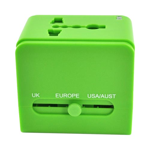 Original DCI Universal 3 Type Travel Adapter, 26546-GR - Green (UK/Europe/Australia)