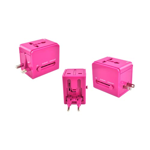 Original DCI 3 Type Travel Adapter, 26546-MG - Magenta (UK/Europe/Australia)
