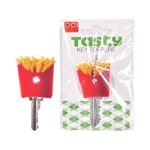 Original DCI Universal Tasty Key Topper, 26874-FR - Yellow and Red French Fries