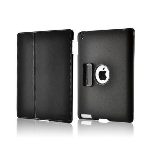 Targus Gray Slim Hard Back Folio Case Stand w/ Stulus Storage & Magnetic Closure for Apple iPad 3 & 4