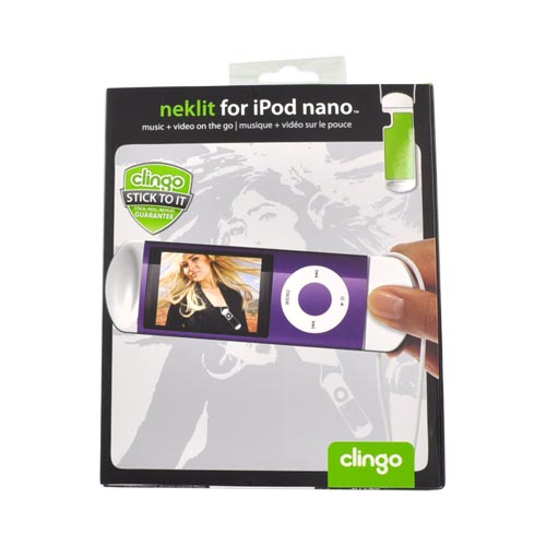 Clingo Universal iPod Nano Neklit Holder w, Lanyard, 30266 - White,Green
