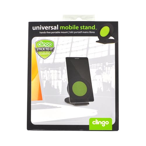 Clingo Universal Round Mobile Stand Holder, 30330 - Green,Black