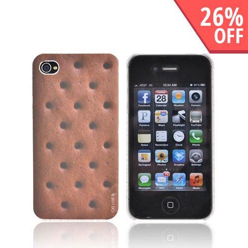 Original DCI AT&T/ Verizon iPhone 4, iPhone 4S Flash Rubberized Hard Case, 30451 - Brown Ice Cream Sandwich