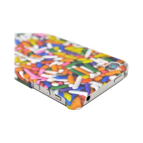 Original DCI AT&T/ Verizon iPhone 4, iPhone 4S Flash Rubberized Hard Case, 30475 - Multi-Colored Sprinkles