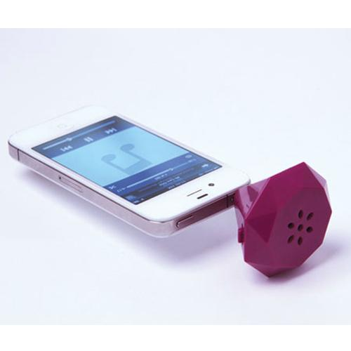 DCI® FunkyFonic Diamond Ring Speaker (3.5mm) w/ Cover & Charging Cable [Purple]